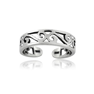 Mondevio Sterling Silver Scrollwork Design Toe Ring