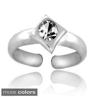 Icz Stonez Sterling Silver Cubic Zirconia Diamond-shaped Toe Ring|https://ak1.ostkcdn.com/images/products/8682608/Icz-Stonez-Sterling-Silver-Cubic-Zirconia-Diamond-shaped-Toe-Ring-P15937388.jpg?impolicy=medium