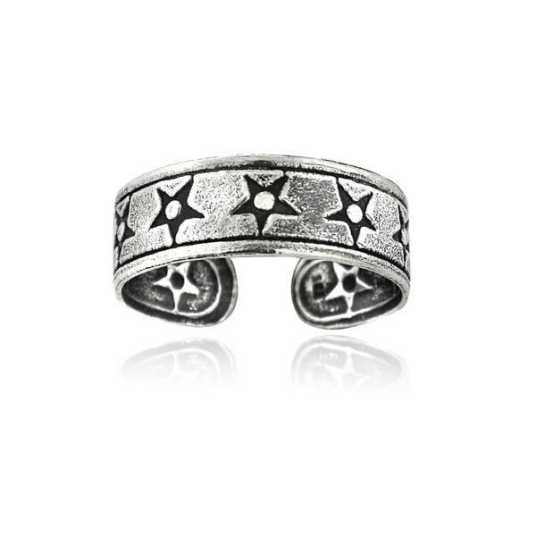 Mondevio Sterling Silver Star Toe Ring