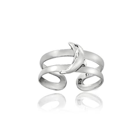 Mondevio Sterling Silver Dolphin Toe Ring