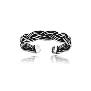 Mondevio Sterling Silver Braided Toe Ring