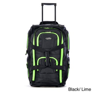 Olympia 22-inch Carry-on 8-pocket Rolling Upright Duffel Bag (Option: Green - Solid)