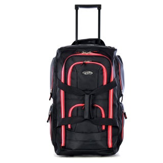 Olympia 22-inch Carry-on 8-pocket Rolling Upright Duffel Bag