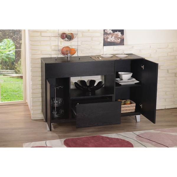 Furniture Of America Carrera Contemporary Black Dining Buffet Storage  Server   Free Shipping Today   Overstock.com   15937511