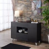Furniture of America Carrera Contemporary Black Dining Buffet Storage Server