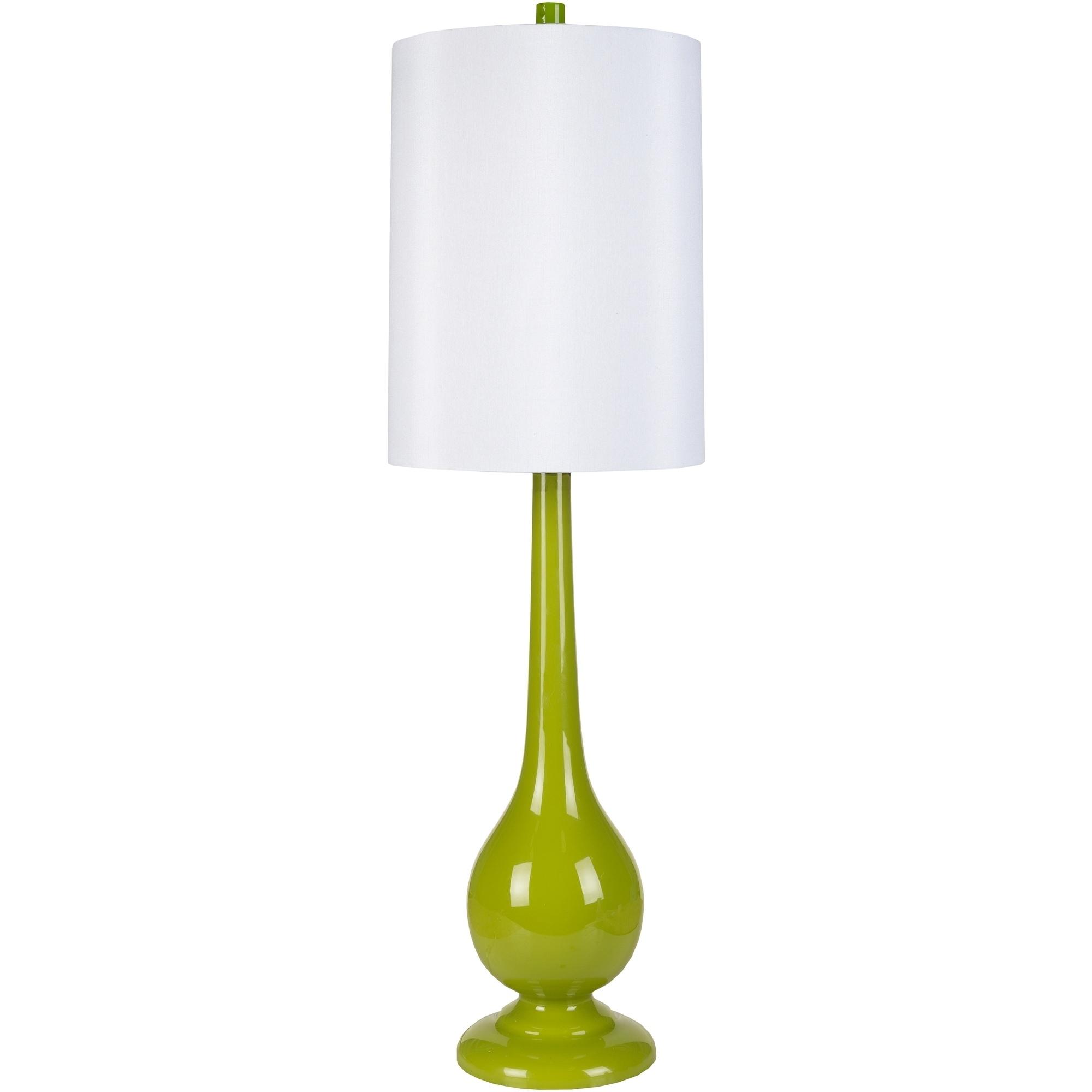 SURYA Brilliantly Bold Glass Table Lamp (Green - Glass Fi...