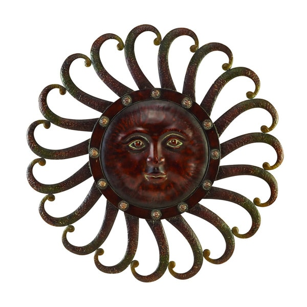 Metal Sun Wall Plaque