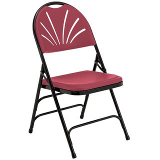Fan Back Polyfold Plastic Folding Chairs (Set of 4)