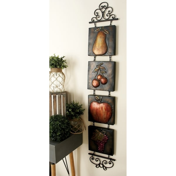Traditional 60 Inch Fruit-Themed Hanging Wall Tiles by Studio 350