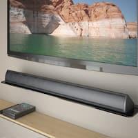 CorLiving Tempered Glass Sound Bar Wall Shelf