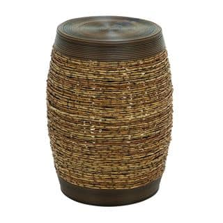 Unique Barrel Shape Bamboo Weave Stool|https://ak1.ostkcdn.com/images/products/8682896/Unique-Barrel-Shape-Bamboo-Weave-Stool-P15937583.jpg?impolicy=medium