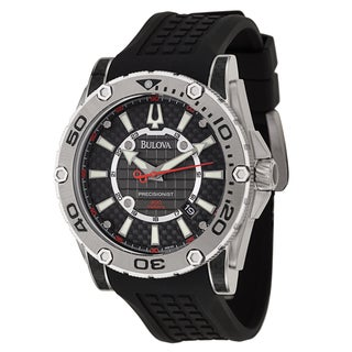 94851c582fe Shop Bulova Men s  Precisionist Champlain Diver  Stainless Steel Carbon  Fiber Military Time Watch - Free Shipping Today - Overstock - 8682935