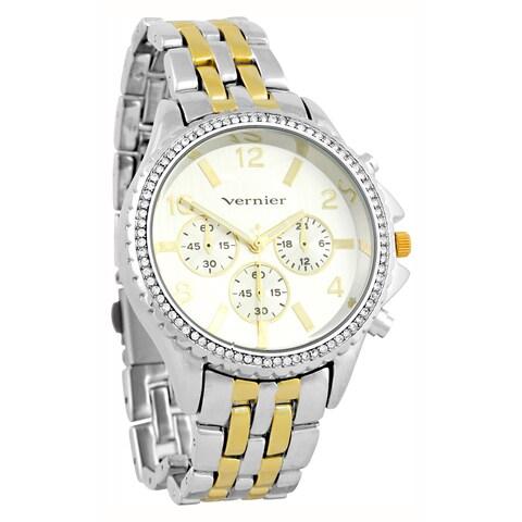 Vernier Women's Faux Chronograph Two-Tone Bracelet Watch