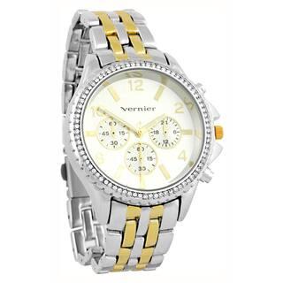 Vernier Women's Faux Chronograph Two-Tone Bracelet Watch|https://ak1.ostkcdn.com/images/products/8682970/Vernier-Womens-Faux-Chronograph-Two-Tone-Bracelet-Watch-P15937609.jpg?impolicy=medium