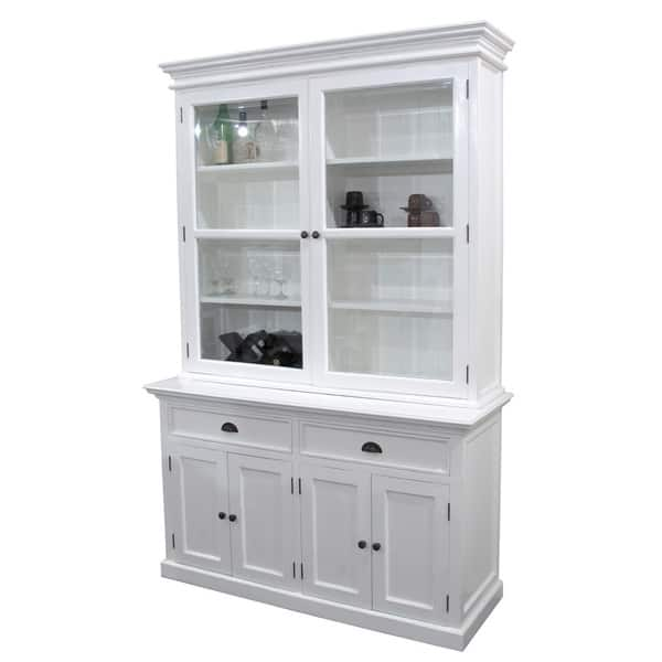 Shop Interior White Kitchen Buffet with Double Glass Door ...