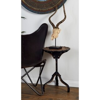 Rustic Industrial Style Accent Table