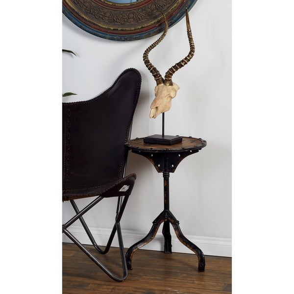 Rustic Industrial Style Accent Table by Studio 350