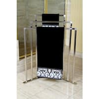 Satin Nickel 3-tier Iron Construction Corner Towel Rack