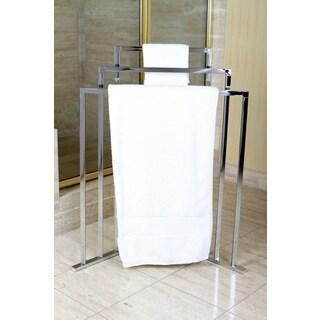 Chrome 3-tier Iron Construction Corner Towel Rack