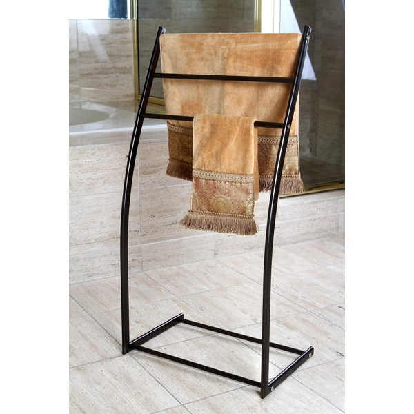 Shop Oil Rubbed Bronze Pedestal Iron Construction Towel