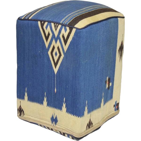 Decorative Kilim Wool-dyed Ottoman