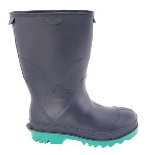 StormTracks Kid's Black and Green Rubber Boots