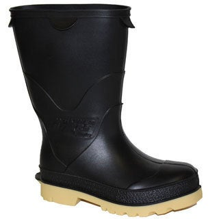 StormTracks Kid's Black and Cream Rubber Boots
