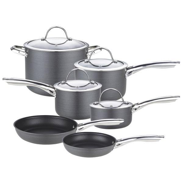 Cooks Standard 10-piece Black Hard Anodize Premium Grade Nonstick Cookware Set