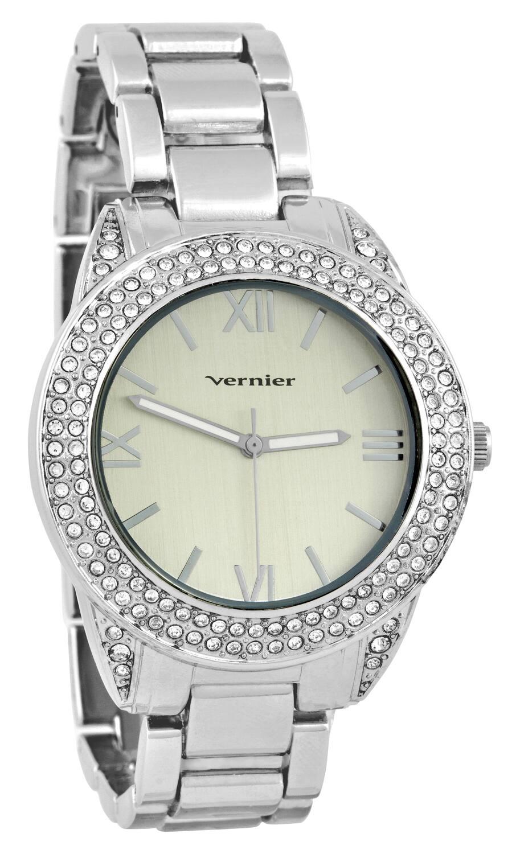 Vernier Women's Curve Case Stone Bezel Silver-Tone Bracelet Watch|https://ak1.ostkcdn.com/images/products/8684562/83/552/Vernier-Womens-Curve-Case-Stone-Bezel-Silver-Tone-Bracelet-Watch-P15938965.jpg?impolicy=medium