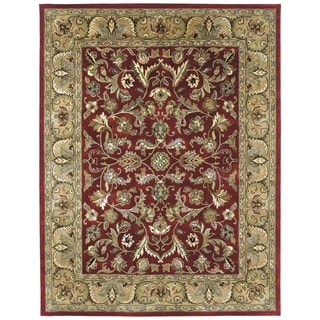 Hand-tufted Royal Taj Red Wool Area Rug (2' x 3')