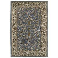 Hand-tufted Royal Taj Blue Wool Area Rug (2' x 3')