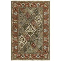 Hand-tufted Royal Taj Multi Wool Area Rug - 2' x 3'