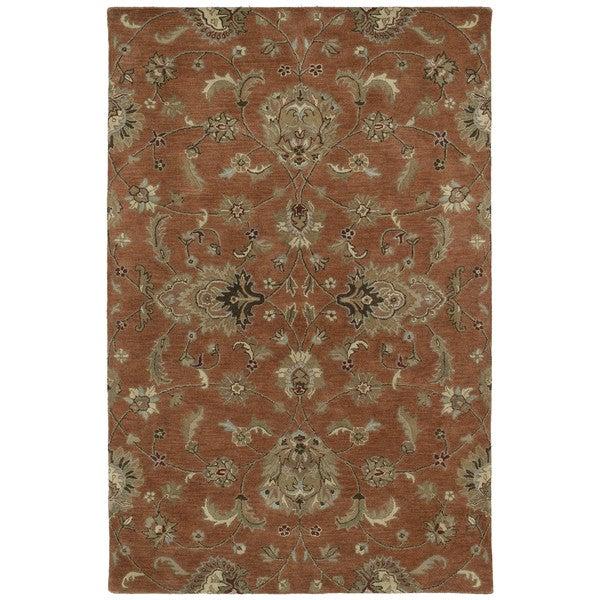 Hand-tufted Royal Taj Copper Wool Area Rug - 2' x 3'