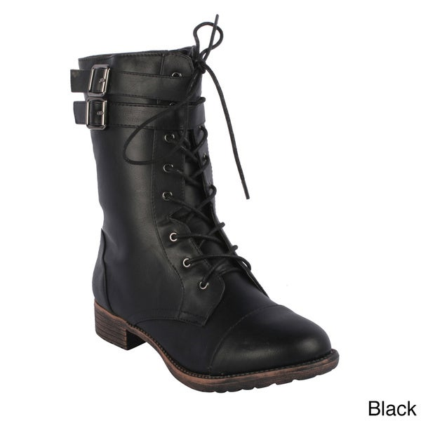 Radiant Women's 'Taggy' Mid-calf Lace-up Combat Boots