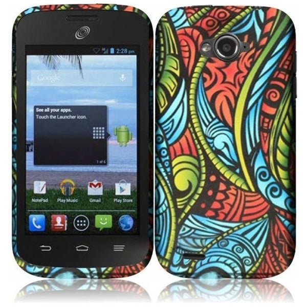 INSTEN Rubber Coated Phone Case Cover for ZTE Savvy Z750C