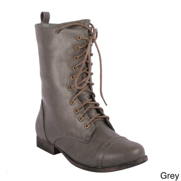 Radiant Women's 'Truman' Lace-up Mid-calf Combat Boots