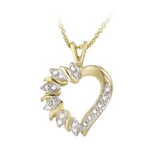 DB Designs 18k Goldtone Diamond Accent Heart Necklace