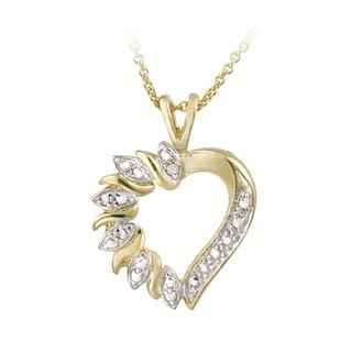 DB Designs 18k Goldtone Diamond Accent Heart Necklace