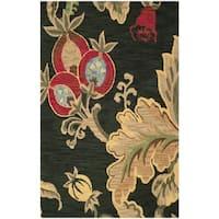 Safavieh Handmade Jardin Black Wool Rug - 5' x 8'