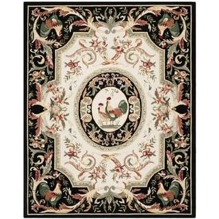 Safavieh Hand-hooked Chelsea Ivory/ Black Wool Rug (8'9 x 11'9)