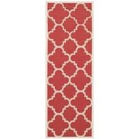 Safavieh Courtyard Quatrefoil Red Indoor/ Outdoor Rug - 2'3 x 6'7