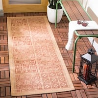 "Safavieh Indoor/ Outdoor Courtyard Natural/ Brick Rug - 2'3"" x 8'"
