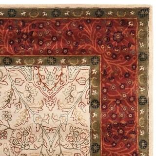 Safavieh Handmade Persian Legend Ivory/ Rust Wool Rug (2'6 x 8')