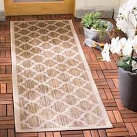 Safavieh Courtyard Moroccan Trellis Brown/ Bone Indoor/ Outdoor Rug - 2'3 x 10'