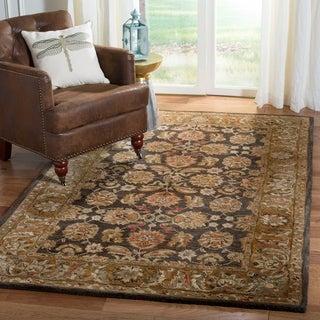Safavieh Handmade Anatolia Oriental Dark Brown/ Gold Hand-spun Wool Rug (2'3 x 12')