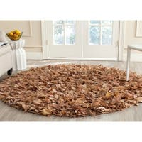 Safavieh Handmade Decorative Rio Shag Natural Rug - 6' Round