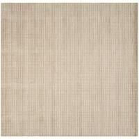 Safavieh Handmade Himalaya Beige Grid Wool Rug - 7' Square