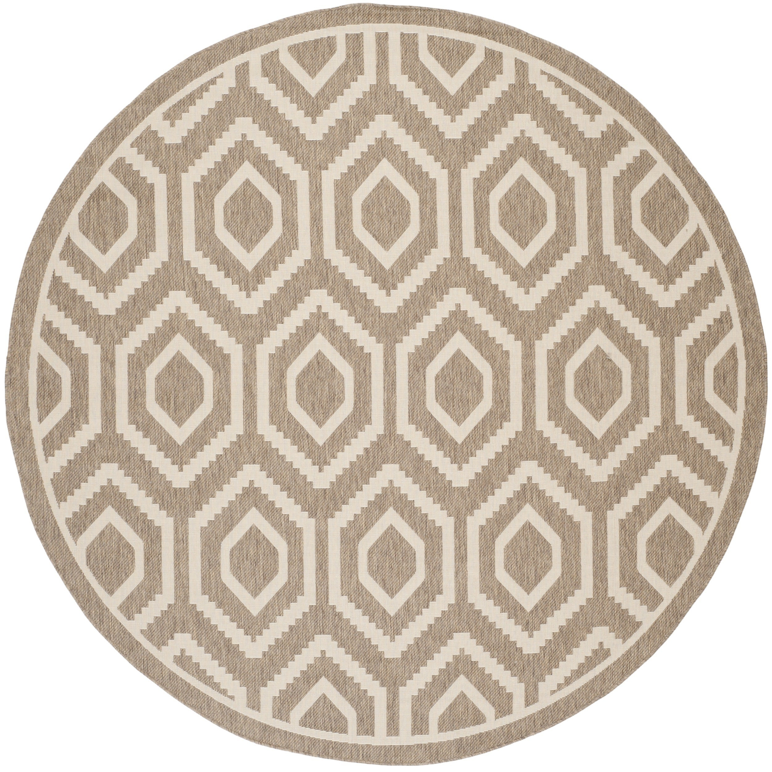 Safavieh Courtyard Honeycomb Brown/ Bone Indoor/ Outdoor ...