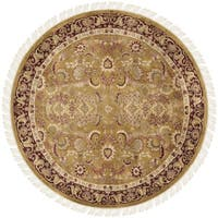 Safavieh Hand-knotted Dynasty Gold/ Red Wool Rug - 8' x 8' Round