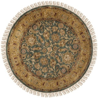 Safavieh Hand-knotted Dynasty Blue/ Apricot Wool Rug (8' Round)